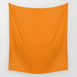Orange Pixel Dust Wall Tapestry