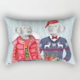 UGLY CHRISTMAS SWEATER WEIMS Rectangular Pillow