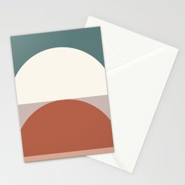 Abstract Geometric 01D Stationery Cards