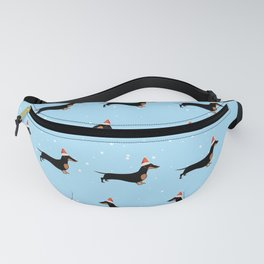 Christmas Dachshund Through the Snow Fanny Pack