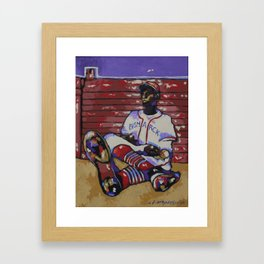 Satchel Paige Framed Art Print