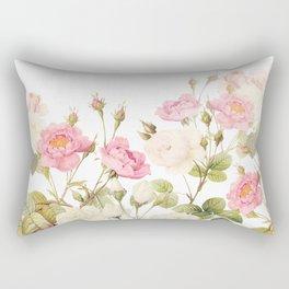 Vintage & Shabby Chic - Sepia Roses Flower Garden Rectangular Pillow