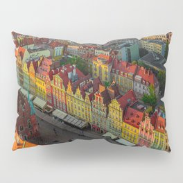 Colorful houses in Wroclaw, Poland Pillow Sham