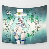 anime Wall Tapestries featuring Anime Alice by MivMusse