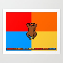 Bump To The Beat That Moves Your Meat Art Print