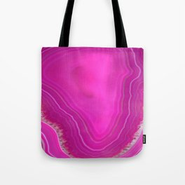 Pink Agate Tote Bag