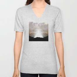 Abstract Landscape 02: New Beginnings Unisex V-Neck