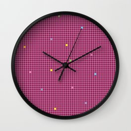 Checked Pattern_W Wall Clock