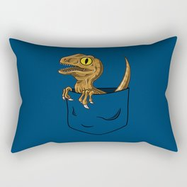 Pocket Raptor (Jurassic Park Velociraptor) Rectangular Pillow