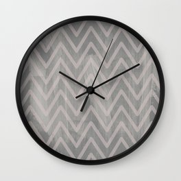 Mauve pink geometric watercolor chevron brushstrokes Wall Clock