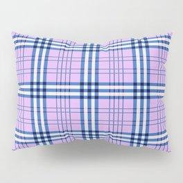 Pink and Blue Tartan Plaid Pillow Sham