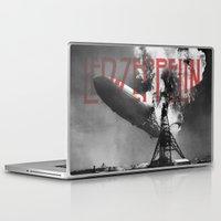led zeppelin Laptop & iPad Skins featuring Zeppelin by Blaz Rojs