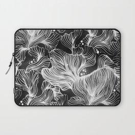 Black and White Shibori Corals Laptop Sleeve