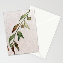 Olive Twig I Stationery Cards