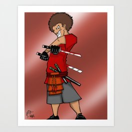 Street Samurai Series - Mad Man Art Print