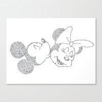 minnie Canvas Prints featuring Mickey & Minnie by S. L. Fina