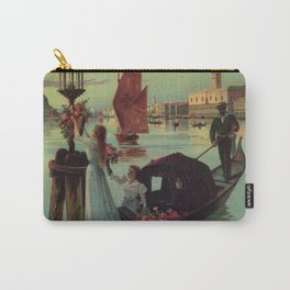 Paris Venice Victorian romantic travel Carry-All Pouch