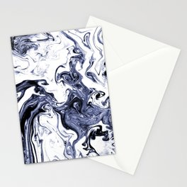 Marble Suminagashi watercolor pattern art pisces water wave ocean minimal design Stationery Cards