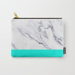 Marble Blue Luxury iPhone Case and Throw Pillow Design Carry-All Pouch