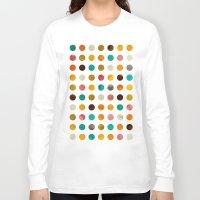 polka dot Long Sleeve T-shirts featuring Autumnal polka dot by cafelab