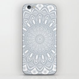 Cool Gray Mandala Simplistic Bold Minimal Minimalistic iPhone Skin