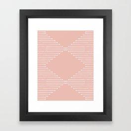 Geo / Blush Framed Art Print