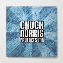C. Norris protects me Metal Print