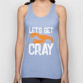 Lets Get Cray Mardi Gras Crawdad Party Unisex Tank Top