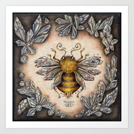 Crystal bumblebee Art Print