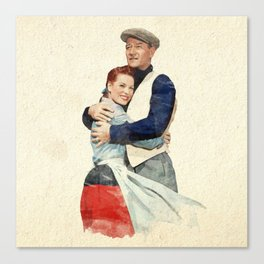 The Quiet Man - Watercolor Canvas Print