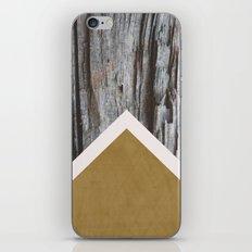 Wooded Chevron iPhone Skin