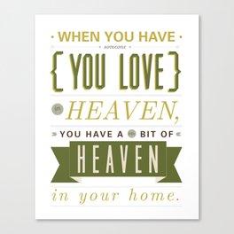 Someone In Heaven-GREEN Canvas Print