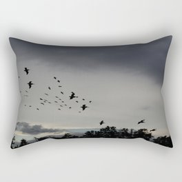 Pelicans Coming In For Night Rectangular Pillow