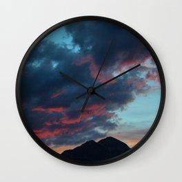 Dreamy Mountain Sunset Wall Clock