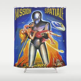 Mission Spatiale Shower Curtain