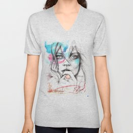 Kate Moss by Leo Tezcucano Unisex V-Neck