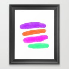 Simple Paint Strokes with White Background Framed Art Print