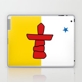 Nunavut territory flag- Authentic version with Inukshuk and blue star Laptop & iPad Skin