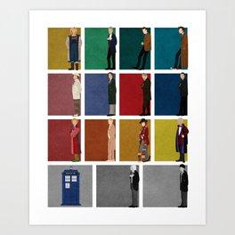 Doctor Who 2 Art Print