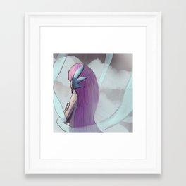 Gijinka Angel Ogura on the Clouds Framed Art Print