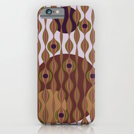 Wavy Retro Pattern 3 iPhone Case