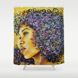 Golden Goddess Shower Curtain