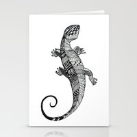 lizard Stationery Cards featuring lizard by Emma Reznikova