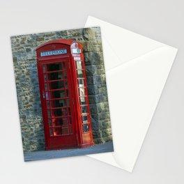 Red British phone box Stationery Cards