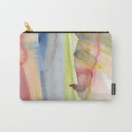 Dusty Pink and Blue Abstract 021 Carry-All Pouch