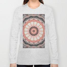 Autumn Pastel Flower Mandala Long Sleeve T-shirt