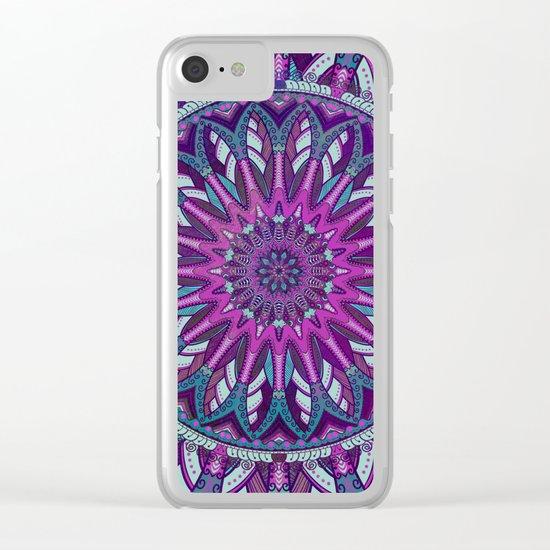 Iris Mandala 2 Clear iPhone Case