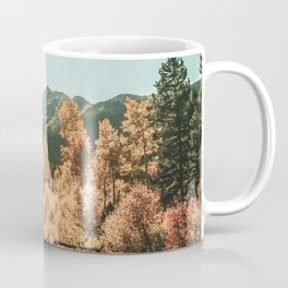 Rustic Autumn Beauty // Golden Yellow and Orange Leaves in the Forest Coffee Mug