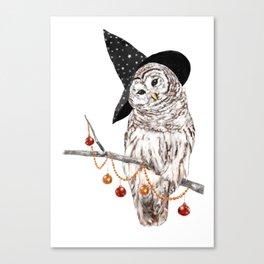 Halloween Owl Canvas Print