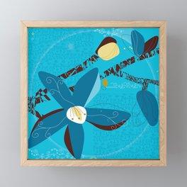 Blue Saucer Magnolia Framed Mini Art Print
